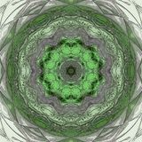 Mandala suitable for meditational in light green, white and teal colors vector illustration
