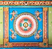 Mandala sul soffitto di Mandapam Immagini Stock Libere da Diritti