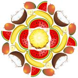 Mandala Summer Fruit and Juice 2 Royalty Free Stock Photo