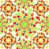 Mandala Summer Fruit and Juice Stock Images