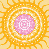 Mandala. Sun pattern. Royalty Free Stock Photography