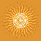 Mandala. Sun pattern. Royalty Free Stock Photo