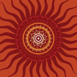 Mandala. Sun pattern. Royalty Free Stock Photos