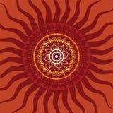 Mandala. Sun pattern. Mandala. Sun. Indian decorative pattern Royalty Free Stock Photos
