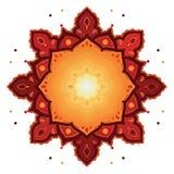 Mandala. Sun pattern. Mandala. Sun. Indian decorative pattern Royalty Free Stock Photography
