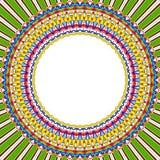 Mandala sun round frame Stock Photography