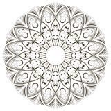 Mandala sur le fond d'isolement Image stock