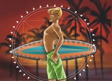 mandala surfować chłopcze Zdjęcia Royalty Free