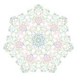 Mandala symétrique circulaire sur le fond blanc Illustration de la coloration de modèle illustration de vecteur