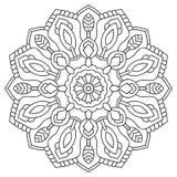 Mandala symétrique circulaire sur le fond blanc Illustration de modèle Image libre de droits