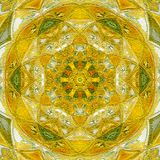 Sunny mandala symbol of luck and happiness. Mandala symbol of luck and happiness stock image