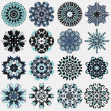 Mandala symbol vector illustration collection royalty free illustration