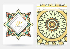 Mandala szablon Set prości wzory z ornamentem Obrazy Stock