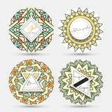 Mandala szablon Set prości wzory z ornamentem Obraz Royalty Free