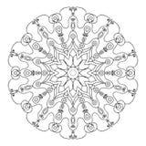 mandala Szablonu Kółkowy ornament Zdjęcie Royalty Free