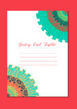 Mandala szablonu orientalna karta Fotografia Royalty Free