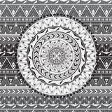 mandala Tło tekstura z wzorami Zdjęcia Stock