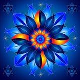 Mandala Talisman d'énergie cosmique guérissant Image stock