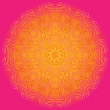 Mandala teñida brillante en fondo brillante Fotos de archivo libres de regalías