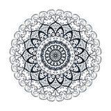 Flower Mandala Design. Coloring book page. Vector illustration royalty free illustration
