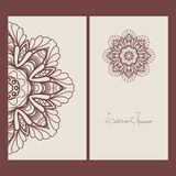 Mandala. Template design cards. Vector illustration Stock Photography