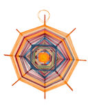 Mandala tessuta con i filetti Fotografie Stock