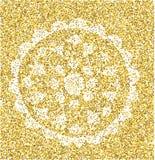 Mandala - teste padrão circular do vetor Ornamento redondo ouro ilustração do vetor