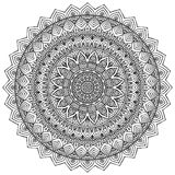 mandala Teste padrão redondo do ornamento Fotografia de Stock