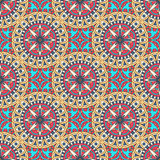 Mandala texture in bright colors. Abstract vector background. Seamless pattern on indian style. Mandala texture in bright colors. Abstract vector background Royalty Free Illustration