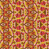 Mandala texture in bright colors. Abstract vector background. Seamless pattern on indian style. Stock Images