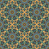 Mandala texture in bright colors. Abstract vector background. Seamless pattern on indian style. Royalty Free Stock Images