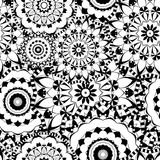 Mandala texture in bright colors. Seamless pattern on indian style. Abstract vector background Stock Photos