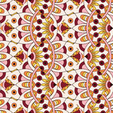 Mandala texture in bright colors. Seamless pattern on indian style. Abstract vector background Royalty Free Stock Photo
