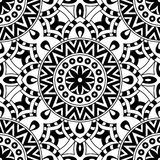 Mandala texture in bright colors. Seamless pattern on indian style. Abstract vector background Royalty Free Stock Photos