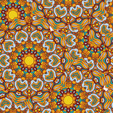 Mandala texture in bright colors. Seamless pattern on indian style. Abstract vector background.  Royalty Free Stock Photo