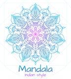 Mandala thin line indian style Stock Images