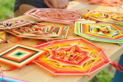 Mandala thread at folk festival fair Stock Image