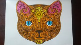 Mandala Tiger Image stock