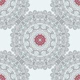 Mandala Tile Seamless Print Modelo de la simetría Fotografía de archivo