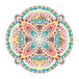 Mandala tiré par la main abstrait Image libre de droits