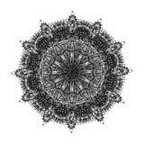 Mandala tiré par la main abstrait Photo stock