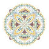 Mandala tiré par la main abstrait Photos libres de droits