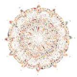 Mandala tiré par la main abstrait Photographie stock