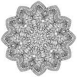 Mandala tiré par la main décoratif Image libre de droits