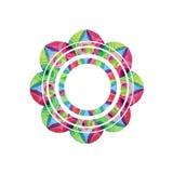 Mandala tiré par la main d'aquarelle dans le vecteur Images libres de droits