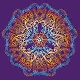 Mandala tiré par la main de griffonnage de vecteur Photo stock
