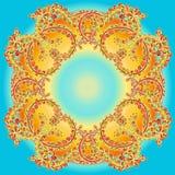 Mandala tiré par la main de griffonnage de vecteur Photos stock