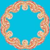 Mandala tiré par la main de griffonnage de vecteur Photo libre de droits