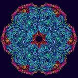 Mandala tiré par la main de griffonnage de vecteur Image stock