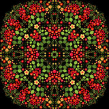 Mandala tiré par la main de griffonnage de vecteur Photographie stock
